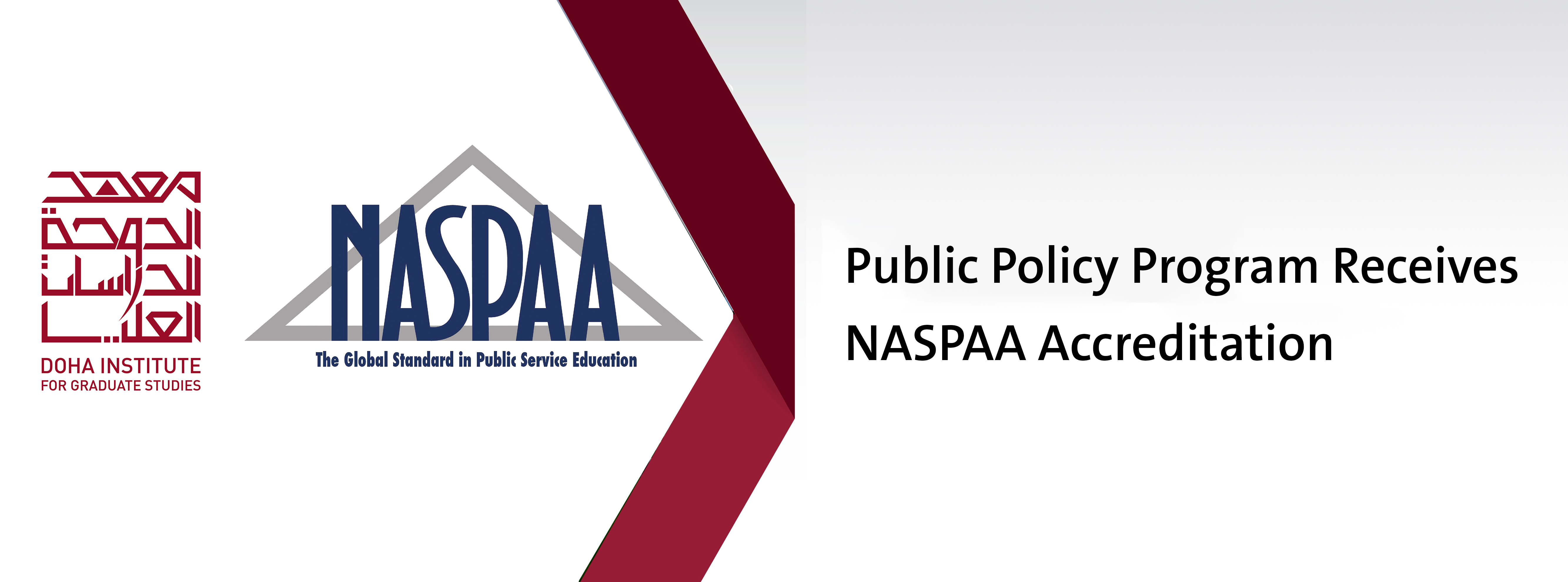 NASPAA Accreditation for Doha Institute Public Policy Program